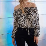 Blouse Women Tops  Long Sleeve Women Shirt Eliacher Brand Plus Size Casual Women Clothing Lady Leopard Print Blouses Blusas