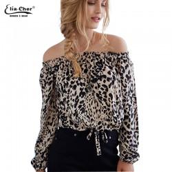 Blouse Women Tops  Long Sleeve Women Shirt Eliacher Brand Plus Size Casual Women Clothing Lady Leopard Print Blouses Blusas