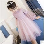 Brand Girls Lace Dress Children's Voile Dress Kids Ball Gown Dress Baby Cute Formal Dress 2018 Toddler Summer Clothes Princess