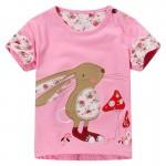 Brand Summer Girls T-shirts Cartoon Short-sleeved Girl Tops 1-6 Years Girls Tees 100% Cotton Baby Girls T Shirt Children Clothes