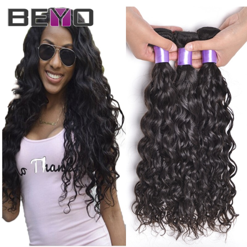 Brazilian Virgin Hair Water Wave 3 Bundles Wet And Wavy Brazilian