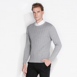 CAIZIYIJIA 2017 Spring Mens Pullover O-Neck Stretchy Sweatshirt Long Sleeve 100% Cotton Comfort Soft Basic Casual Knitted Shirts