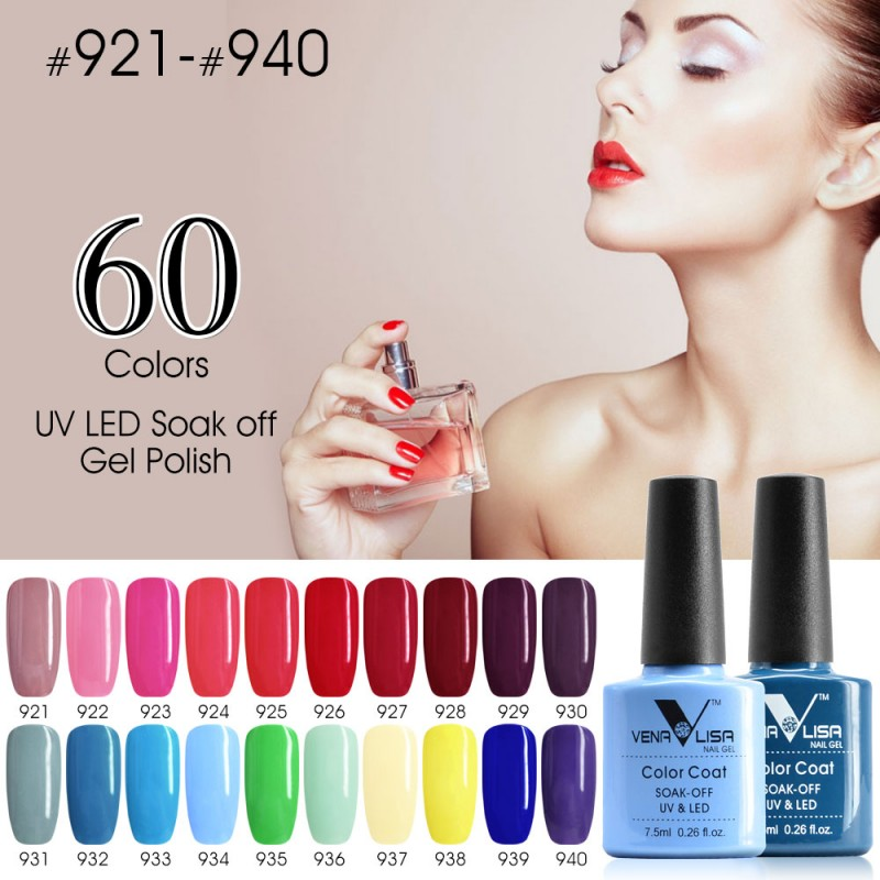 CANNI LED Gel Varnish Hot Sale Nail Art DIY Design 60 Colors 7.5ml ...