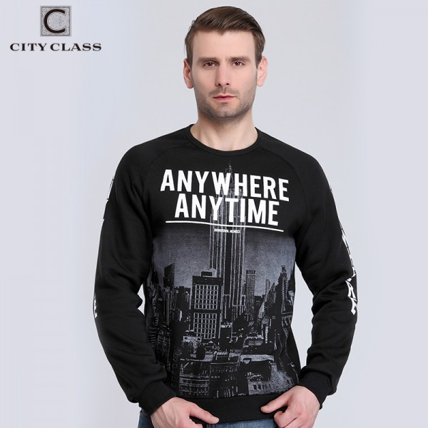 CITY CLASS 2016 Autumn&Winter Men's Sweatshirts of Brand Clothing Letter pattern Hoodies for Male Outerwear City Photo 2765