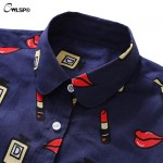 CWLSP Cotton Print Blouse Long Sleeve Turn-Down Collar Button Down Shirts Floral Women Casual Blusas Camisas Mujer Oversize 5XL