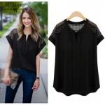 Camisas Femininas 2018 Summer Women Shirt Kimono Cotton Linen Shirts Casual Stitching Hollow Out Tops Plus Size 5xl Blusas Blusa
