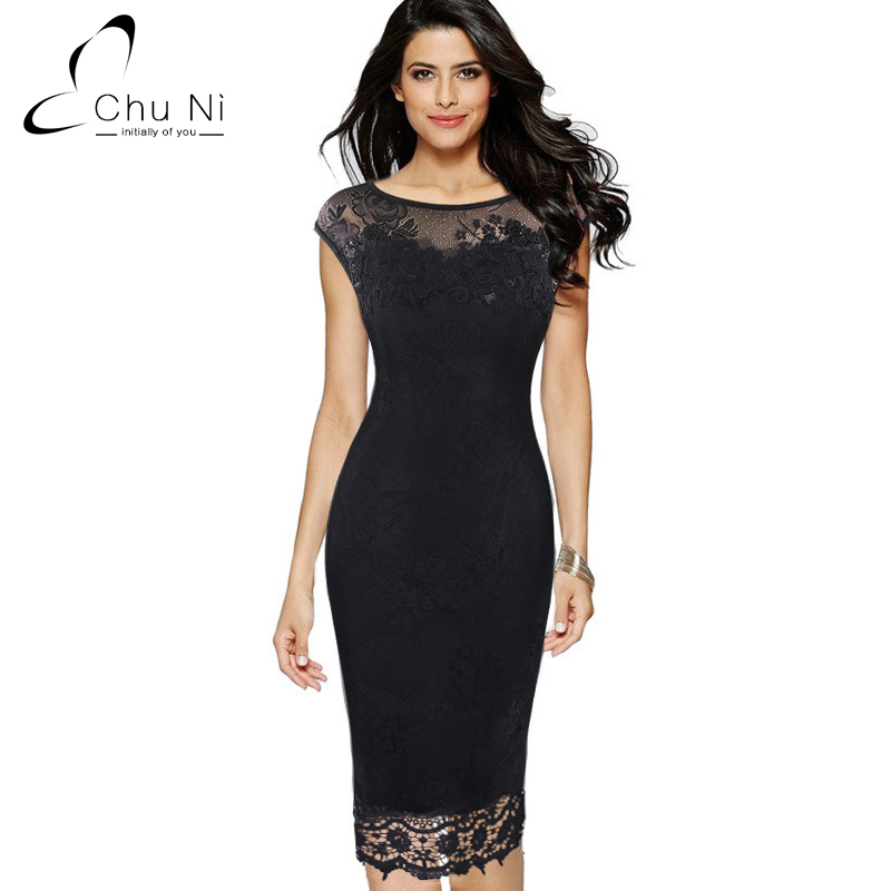 Ni 5xl Plus Size Elegant Dress Embroidery See Through Lace Party