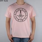 Cipher circle- Gravity Falls t-shirt Top Lycra Cotton Men T Shirt