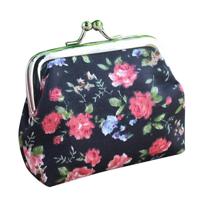 Coin Pures Wallet For Women\'s Handbag Vintage Flower Retro Wallet ...