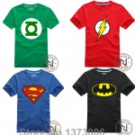 Comic Super Hero T Shirt Superman Batman Captain America the Flash Cartoon Movie Men Boy Cosplay T-Shirts Tshirt Geek Tee
