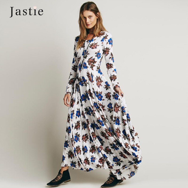 e388f4168e6da Curiosity Fashion First Kiss Long Sleeve Floral Printed Maxi Dress ...