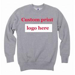 Customized sweatshirt Digital Printing print Logo DIY Cotton Poly  Creat Heat transfer Sueter Unisex Personalized Design HY