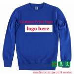 Customized sweatshirt Digital Printing print Logo DIY Cotton Poly  Creat Heat transfer Sueter Unisex Personalized Design HY