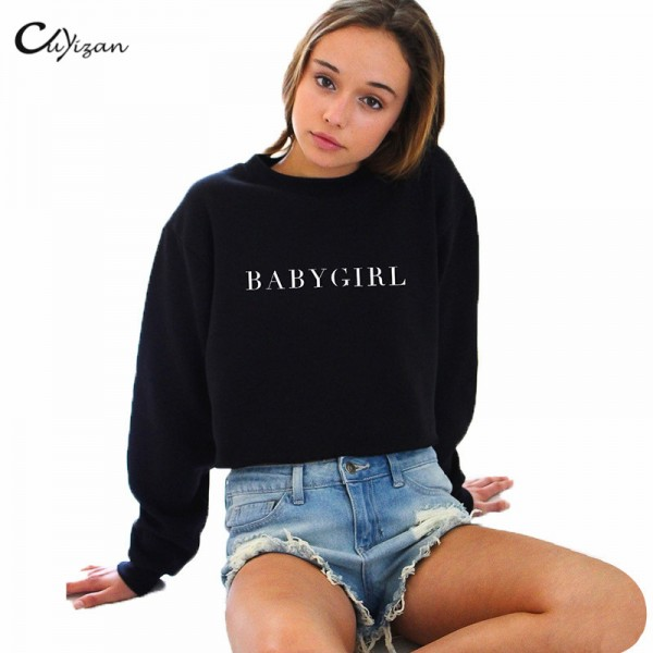 Cuyizan Rock hoodies sweatshirts women Autumn printed Pullovers casual long sleeve tracksuit moletom High street women clothing