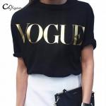 Cuyizan Women VOGUE Printed Printed T-Shirt Fashion Brand t shirts women short sleeve Tops Tee Femme High street casual tshirt