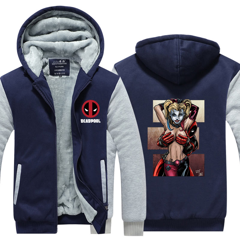 promo code be251 8e1f9 Deadpool With Hot Lady Harley Quinn Jacket Novelty Men ...