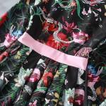 Designer Runway Dress 2017 High Quality Women Long Sleeve Turn-down Collar Gorgeous Floral Printed Dresses Vestidos SAD289