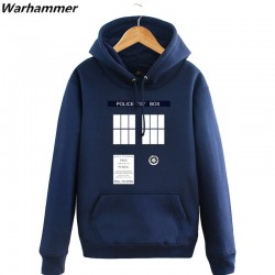 Doctor Who Hoodies Mens Tardis Call Box Pullover Sweatshirts Printed Womens Hooded tracksuit Winter Fleece Blue Big Size Jackets