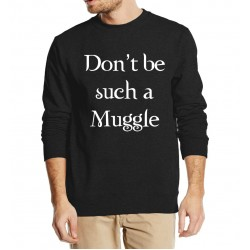 Don't be such a Muggle printed men sweatshirt hoodies 2016 autumn winter casual fleece plus size hip hop style funny clothing