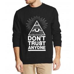 Dont Trust Anyone Illuminati All Seeing Eye 2016 new fashion autumn winter sweatshirt men hoodies streetwear tracksuit harajuku