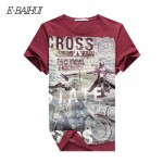 E-BAIHUI  Summer Men Cotton Clothing Dsq  T-shirtS Camisetas t shirt Fitness tops TeeS Skateboard Moleton mens t-shirts  Y032