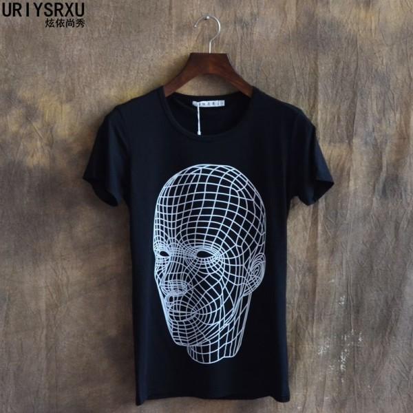 Easy Care Brief 2014 Casual Summer T Shirt Male Slim Print Short Sleeve Headcounts T Shirts