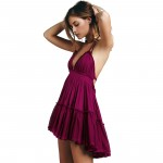 Endless Summer Dress 100 Degree Dress Patchwork Mesh Lace Ruffle Mini dresses Spaghetti Strap Backless Boho Blackless Sexy dress