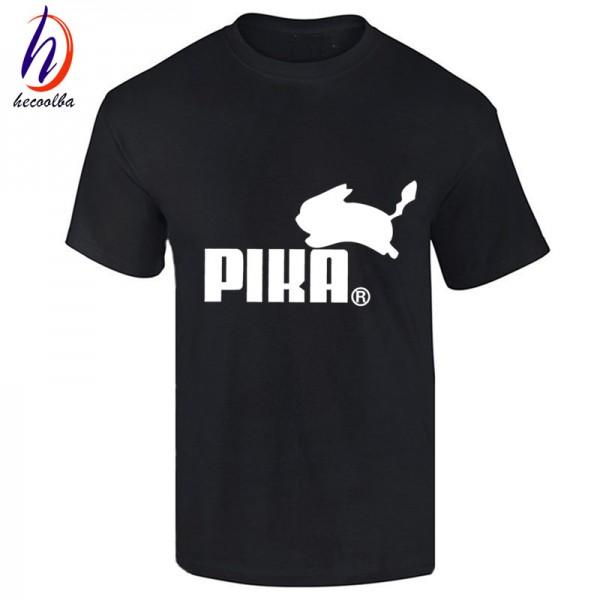 Euro Size,Good Quality Pokemon Go Cotton T shirt Men and Women Skate Clothing,Pikachu Print T-shirt For Man,GT444