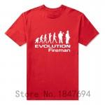 Evolution Of A Fireman Gift Firefighter T Shirt T-Shirt Summer Style Short Sleeve