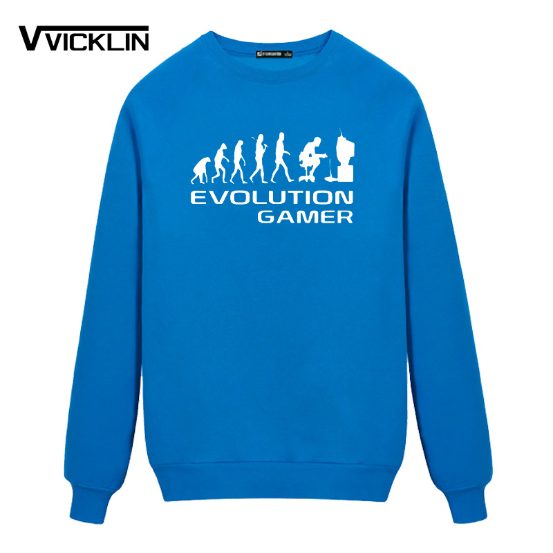 Evolution Of A Gamer Pc Geek Leisure Time Fleece Hoo S Sweatshirt O Neck Anime Funny Plus Size