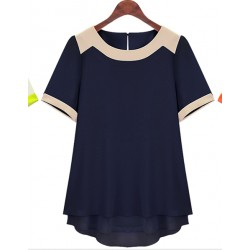 Extra large big size clothing summer  ultralarge 2014 fashion medium-long summer short-sleeve chiffon shirt  XXXL XXXXL XXXXXL