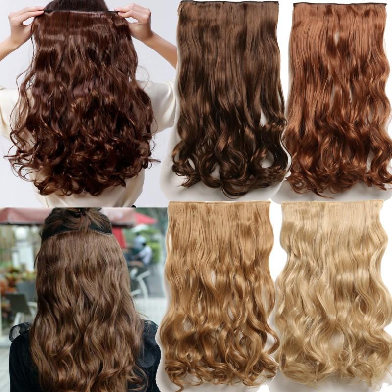 False Hair 24 Long Apply Hair Clips On The Hairpieces Mega Hair