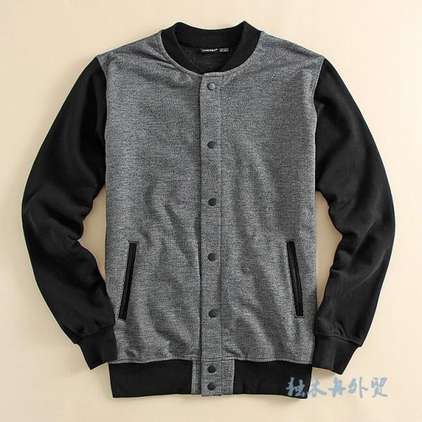 Fashion Promotion Men Casual Jacket Men Sweatshirt College Outside Jackets Leisure Slim Jacket Mens Clothing Plus Size Black