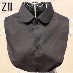 Fashion Shirt Style Women Clothes Accessories White Black False Collar Blouse Detachable Collars