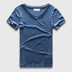 Fashion Slim Fit V Neck T-Shirt Men Cotton Basic Solid Plain Black White T Shirt Male Top Tees Short Sleeve