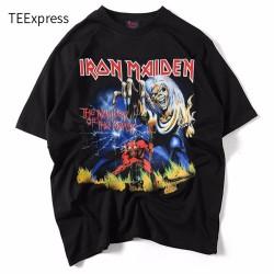 Fashion Summer T shirt Men Iron Maiden  3D Style Streetwear Men's T-shirt 100% Cotton Casual Short Sleeves Top Tees