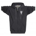 Fashion Winter Spring Autumn Men Fleece Warm Hooded Hoodies Brand Printed Extra Plus Size 3XL 4XL Sweatshirts Zip Up Overcoat