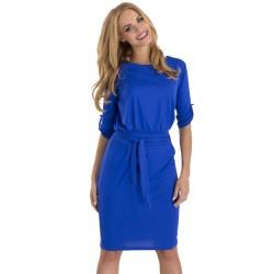 Fashion Women Pencil Work Dress 2016 Summer Spring Casual Dress Bodycon Elegant Sheath Casual Office Dresses with Belt