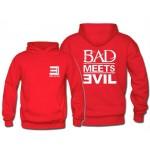 Free Shipping Mens Fashion Eminem RoyceDa59 BAD MEETS EVIL Hoodies Eminem BAD MEETS EVIL Pullover Sweatshirt