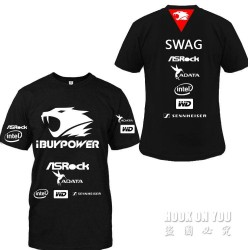Free shipping ASROCK ibuypower Game Team T Shirt print summer Men T Shirt Jersey casual fashion tees o neck cotton tees