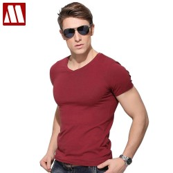 Free shipping v neck Plus size to 5xl cotton mens tee shirts high qualty base mens tee shirts cotton,summer mens basic t-shirt