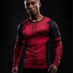 Fun Deadpool 3D Printed T-shirts Men Cosplay Costume Display Long Sleeve Compression Shirt Male Tops Halloween Costumes For Men