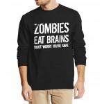 Funny Zombie Sweatshirt autumn winter men 2016 new fashion hoodies streetwear tracksuit hip hop style fleece top crop top