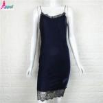 Gagaopt 2017 Winter Velvet dress Sexy V-neck Lace Patchwork Vintage Dresses Sleeveless Bodycon Dress Vestidos Robes