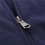 Giordano Men Sweatshirt Long Sleeves Hoodie Kanga Pocket Sweatshirt Zipper Solid Color Hoodie Brand Clothing French Terry Lining