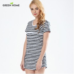 Green Home Summer Beach Striped Nursing Dress Sexy Maternity Dresses Clothing for Pregnancy Woman Short Breastfeeding Dress