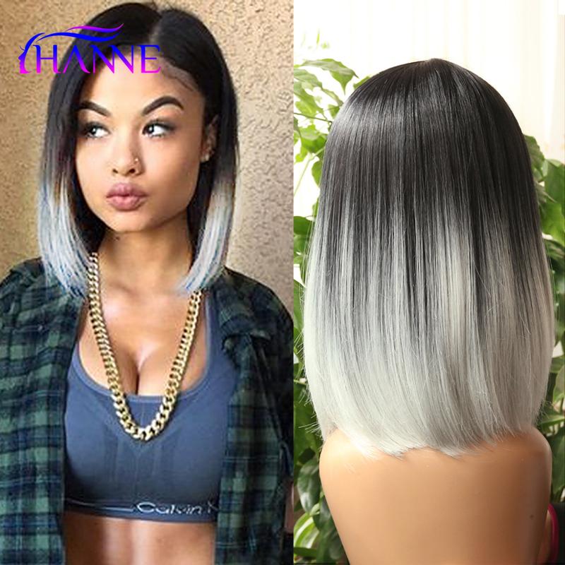 HANNE Black To Light Grey Ombre Color Skin Top Short