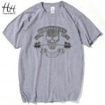 HanHent 2016 Summer New Tees Crossfit Skull T Shirts Men Short Sleeve T-Shirt Fitness Swag Cotton tshirt homme camisetas