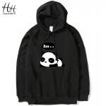 HanHent Cute Panda Fashion Thin Hoodies Men Cotton Casual Anime Sweatshirts Lovers Novelty Swag Brand Clothing 4XL Plus Size