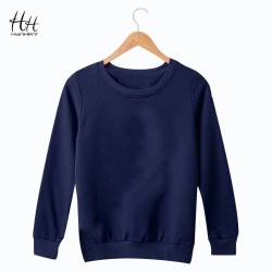 HanHent Fashion Solid Color Sweatshirts Women Men Round Collar Pullover Clothing Basic Streetwear Autumn Spring Hoodies Couples